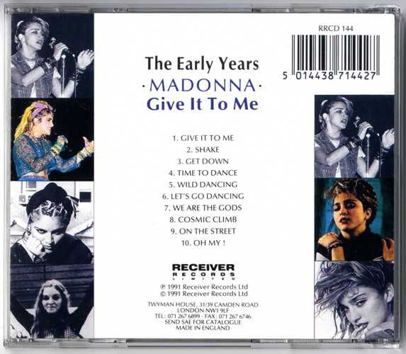 GIVE IT TO ME THE EARLY YEARS - UK CD ALBUM